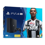 Playstation 4 Pro + Fifa 19 + 2 Controles, Ps4, Play Station