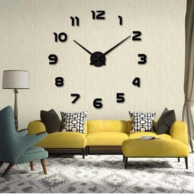 Reloj Pared Grande Moderno Para Hogar U Oficina 3d Funcional