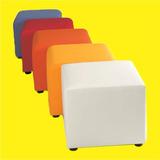 Puff Cubo, Estilo Americano, 30x30x37 Cm, Colores A Elección
