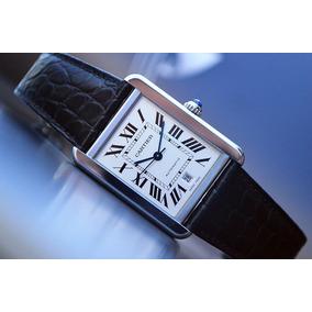 ee275f3a179 Relógio Cartier Tank W1018855 Crocodile Skin White Gold - Relógios ...