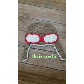 Touca Aviador Croche - Acessórios da Moda no Mercado Livre Brasil bdee7c62c41