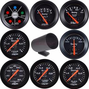 Kit Relógio Manômetro Willtec 52mm Medidor Automotivo Vários
