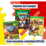 Rocket League, Crash Bandicoot Trilogy, Dragonball Fighter Z