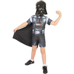 Fantasia Darth Vader Curto Star Wars Infantil Disney