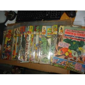 Coleção Capitão Z Homem De Ferro E Capitão America Ebal 1967