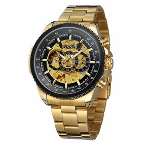 f3a593f50cf ... Automátic Aço Luxo Estiloso. 52. Minas Gerais · Relógio Winner Skeleton  Mecânico Dourado F preto Promoção