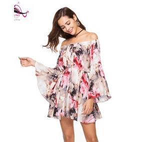 Hermoso Vestido Moda Asiatica ,playero Flores