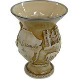 Cuia De Cerâmica Rio Grande Grande Do Sul Alto Relevo 500ml