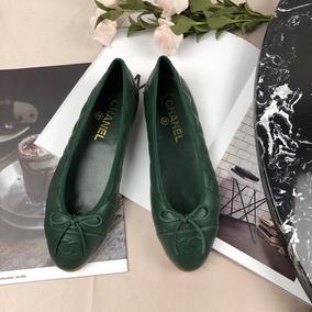 ffd818d2b4 Sapatilha Chanel Feminino Sapatilha - Sapatos Verde no Mercado Livre ...