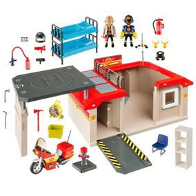 Playmobil City Action Quartel Posto De Bombeiros 5663 Sunny