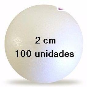 Bola Isopor 20mm Para Biscuit Artesanato Pacote 100 Unidades 6502405da27f3