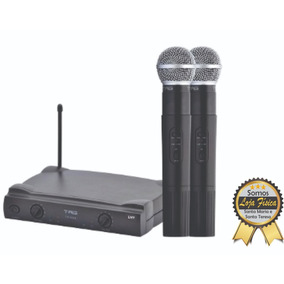 Microfone Sem Fio Tagima Tag Sound Duplo De Mão Uhf Tm 559b