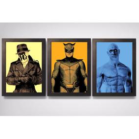 Conjunto 3 Quadros C.moldura Decorativos Watchmen Dc