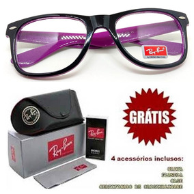 f738beeeed0f5 Armacao Rayban Oculos Feminino Masculino Grau Quadrado Barat