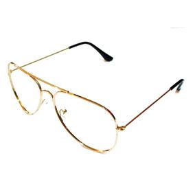 Armação Oculos Aviador Retro Drop Me Dourado. R  85 88 269c560de1