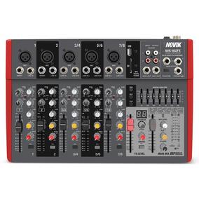 Mesa Mixer 8 Canais Novik Neo Nvk 802 Bt 220v Bluetooth