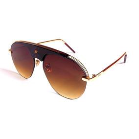 821081644b7ba Óculos Escuro Gucci Xh5503 Dourado Lente Degradê Marrom