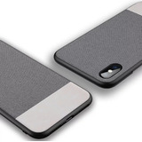 Funda Protectora Case Piel Tela Slim Iphone X Xs Max Xr 7 8+