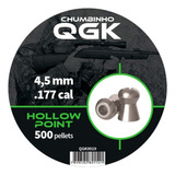 Chumbinho Qgk Hollow Point 4,5 Mm C/ 500 Unidades