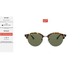 6057bddd37 Rb4246 De Sol - Óculos no Mercado Livre Brasil