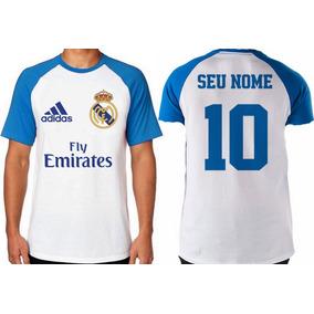 Camiseta Personalizada Com Seu Nome Time Real Madri Espanha ba8608d788598