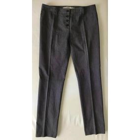 Pantalon De Vestir Mujer Recto Tiro Medio 40 Gris Gabardina ... 6c4f53a97599