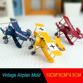 Avião Em Metal - Réplica - Decoração - Miniatura - 3 Peças