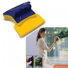 Limpador Magnético Limpa Vidro Aquários Janelas + Feltro