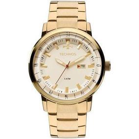 Relógio Masculino Dourado Technos 2115lap/4x