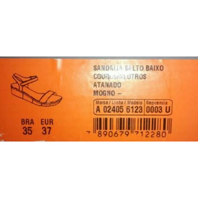 Sandalia Arezzo N°35 Salto Baixo