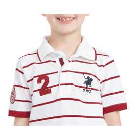 Camisa Polo York Team Club Playera Rayada Con Diseño Niño