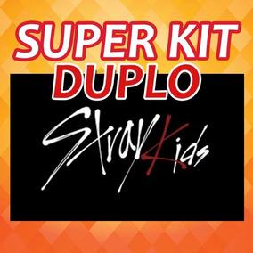 Kpop Kit Duplo Stray Kids - 20 Cards+2 Posters+16 Adesivos