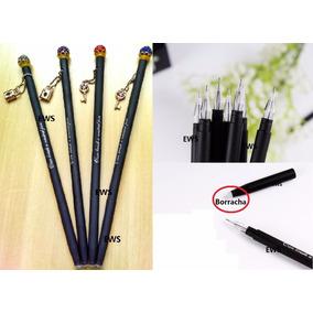 6-caneta Apagavel Fino Azul 0,3mm Que Apaga
