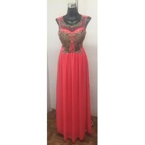 1902-02 Vestido Largo Color Peach