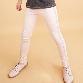 Pantalon Para Niña Color Palo De Rosa 184151 Kids 19c