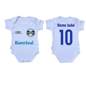 773501d2df Body Criança Roupa Bebê Nenê Time Futebol Grêmio Porto Alegr