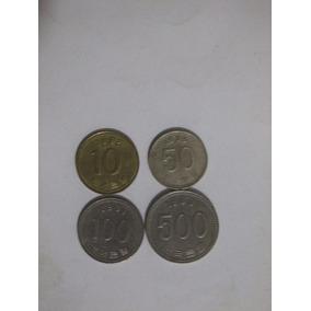 Moedas Coreanas 10,50,100 E 500 Wons