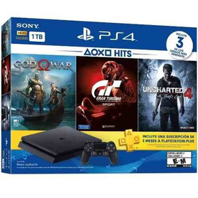 Ps4 Slim Sony 1tb 3 Jogos Bundle Playstation 4 Novo Barato