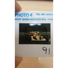 Foto Ayrton Senna Slide Original 35 Mm - Mclaren Mp4/6 1991