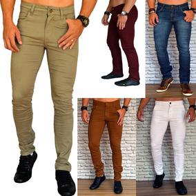 Calças Jeans Masculina Moda Jovem Vários Modelos Skinny 30170d1e855fa