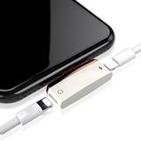 Duplo Adaptador De Fone E Carregador Iphone 7 8 X Metalizado