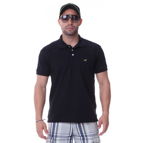 b17700cbcb9fd Camisa Camiseta Gola Polo C  Bolso Varias Cores Lisa Casual