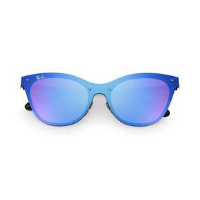 0cff19282e93c Ray-ban Blaze Cat Eye Rb3580n 153 7v43 Black dark Violetblue