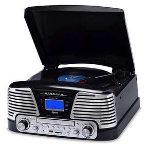 Toca-discos Cd Player Bt Usb Sd Fm Vitrola Raveo Harmony