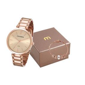 Kit Relógio Mondaine Feminino 53719lpmgre1