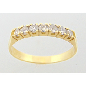 1,04 Cts De Diamantes Extras Em Linda Meia Aliança De Ouro ... 52f4a8537b