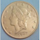 Replica- Copia Una Morocota 20d- No Es De Oro 1907