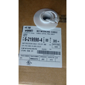 Bobina Cable Utp Cat5e Marca Amp 100% Cobre 6-219590-4 305mt