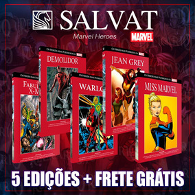 Pacote Marvel 5 Salvat Capa Vermelha - Promoção Frete Grátis