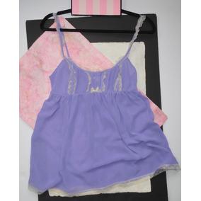 Victorias Secret Lencería Babydoll Lavanda Med